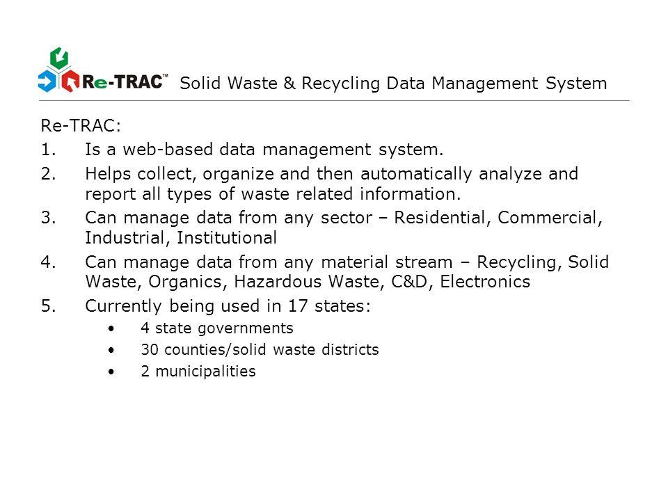 - Data Management