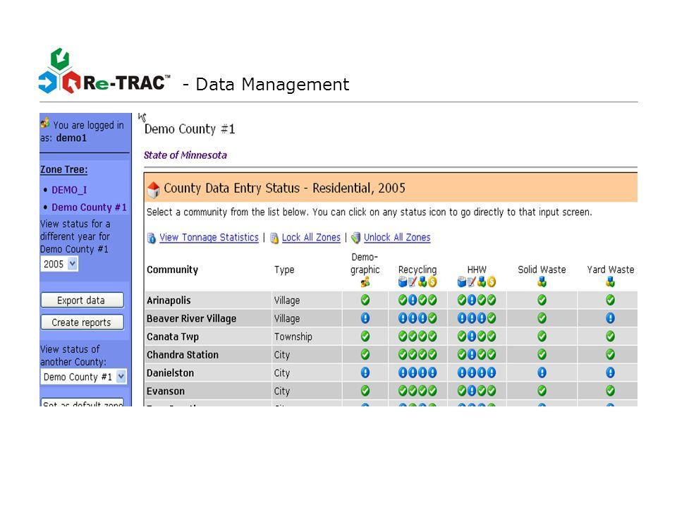 - On-Line Data Input