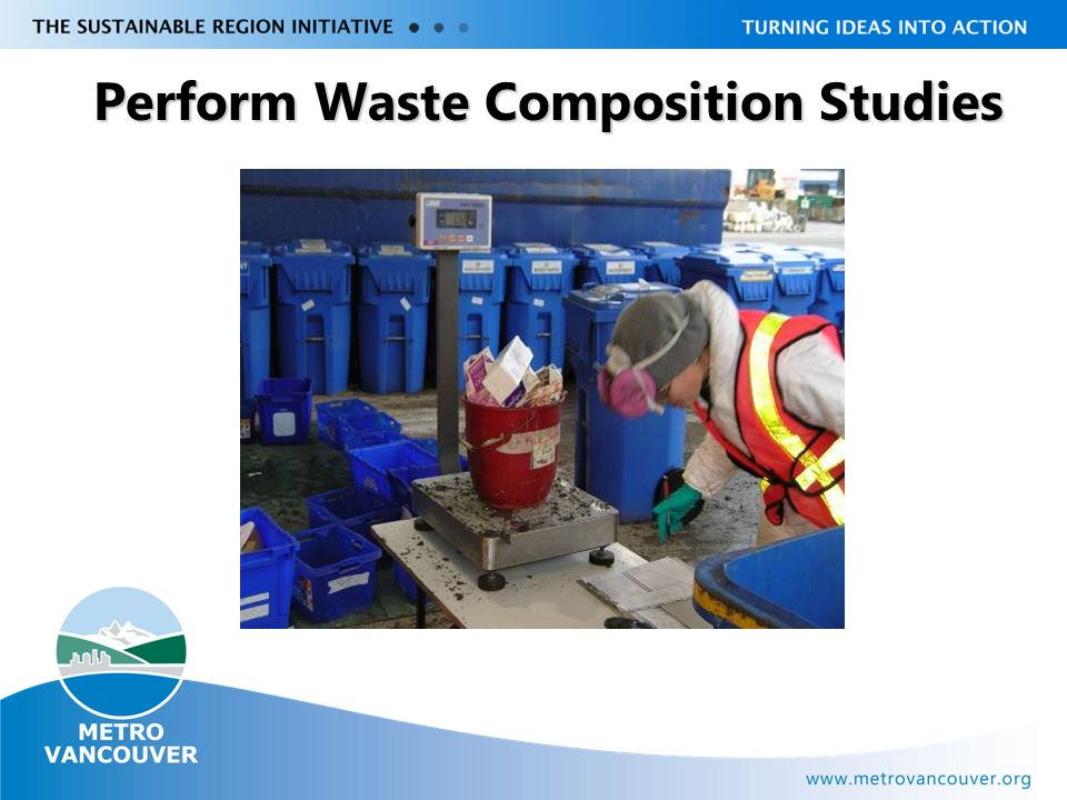 Livable Region Strategy Plan Review towards 2031 Perform Waste Composition Studies