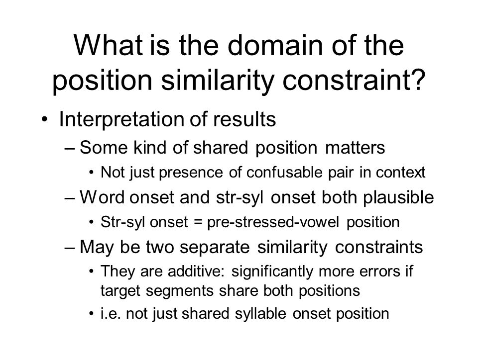 What is the domain of the position similarity constraint.