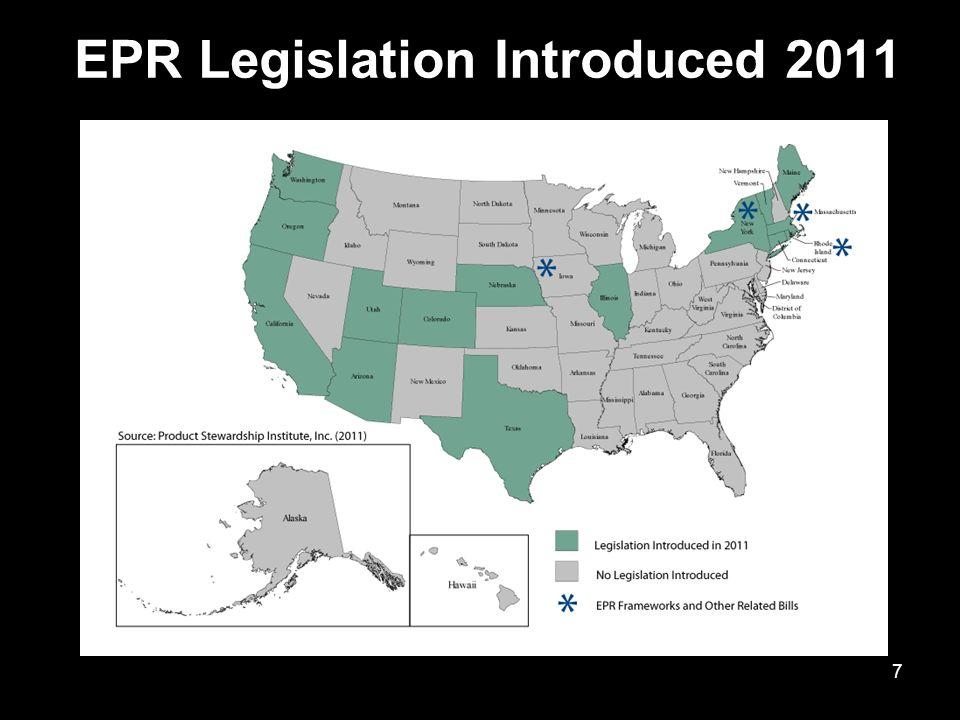 EPR Legislation Introduced 2011 7