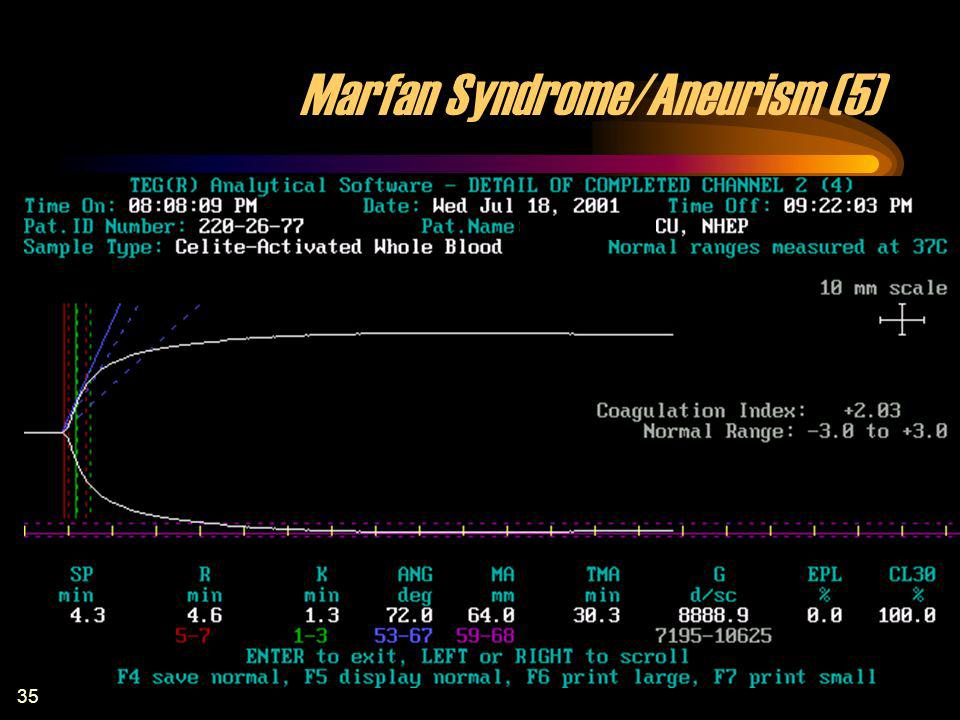 35 Marfan Syndrome/Aneurism (5)