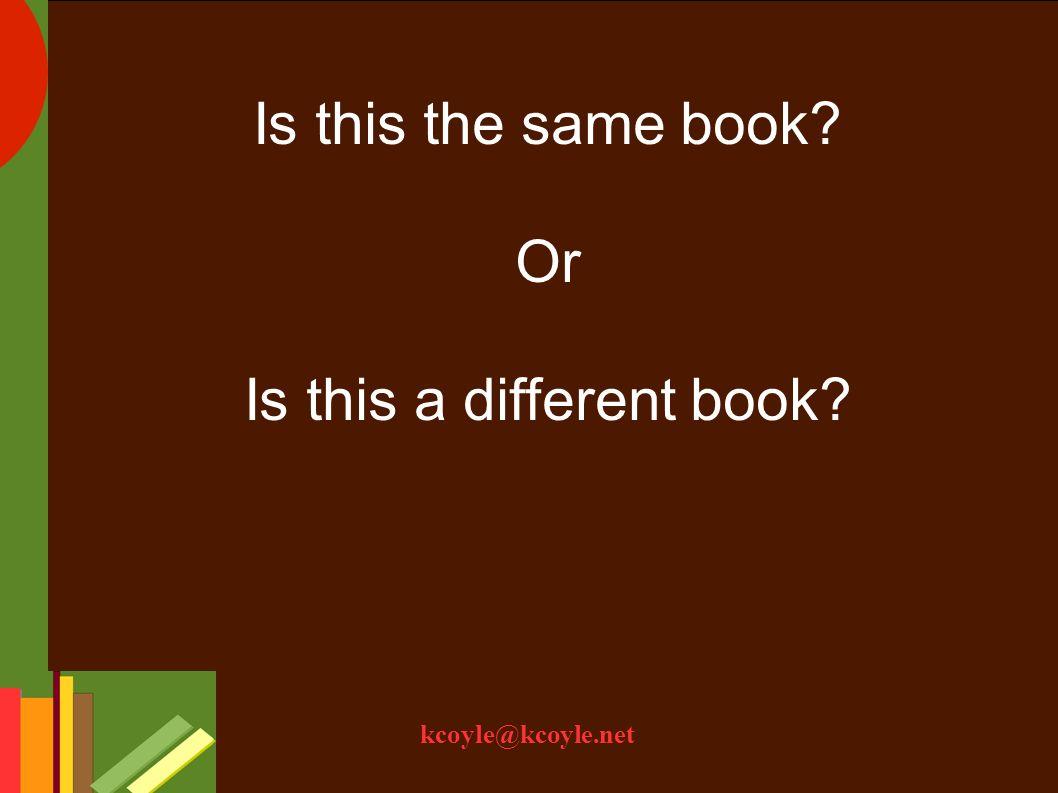 kcoyle@kcoyle.net Order A B C Headings: author title subject terms