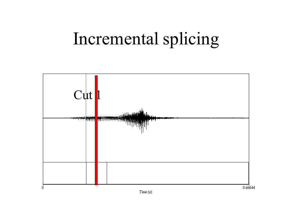 Incremental splicing Full vowel