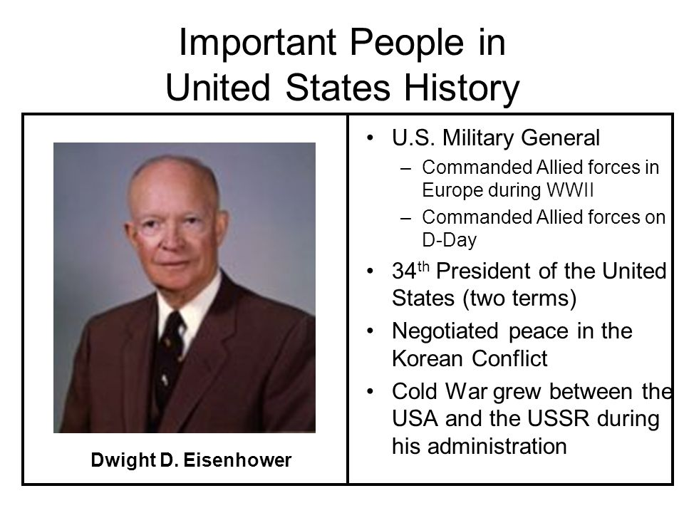 Important People in United States History U.S.