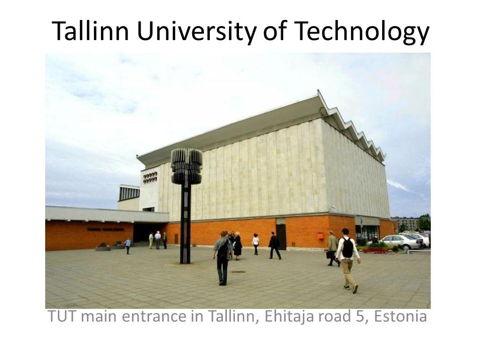 Tallinn University of Technology TUT main entrance in Tallinn, Ehitaja road 5, Estonia