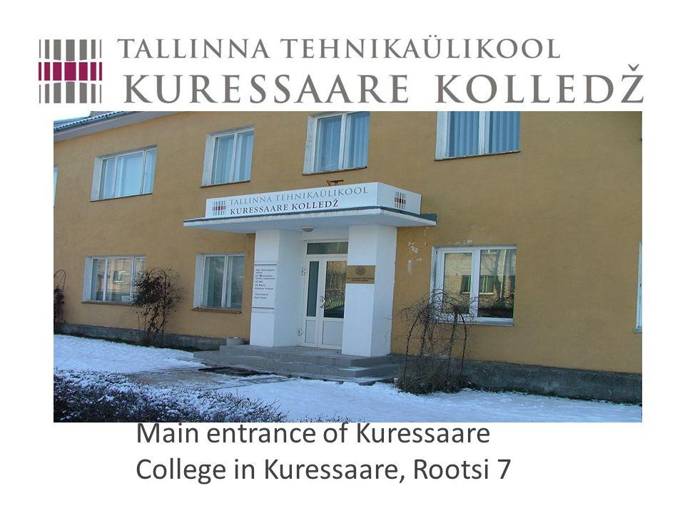 Main entrance of Kuressaare College in Kuressaare, Rootsi 7