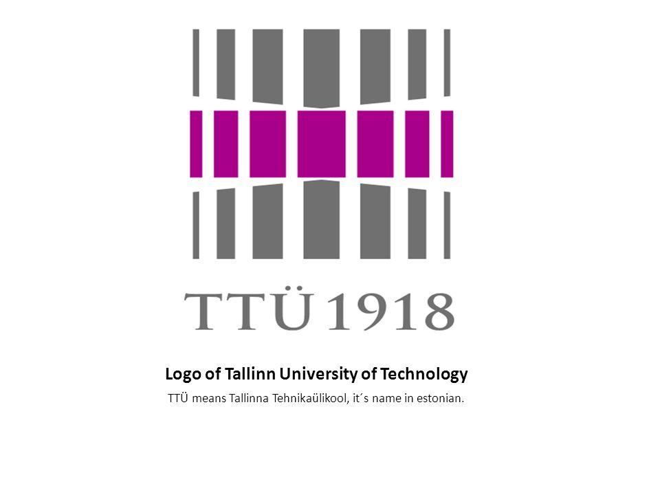 Logo of Tallinn University of Technology TTÜ means Tallinna Tehnikaülikool, it´s name in estonian.