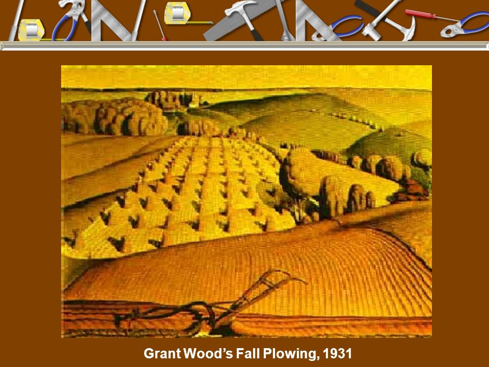 Grant Woods Fall Plowing, 1931