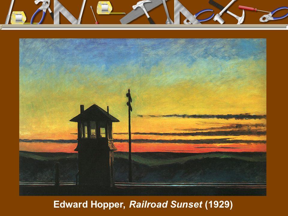 Edward Hopper, Railroad Sunset (1929)