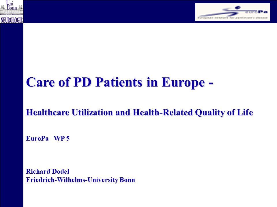 Project leader: Richard Dodel PhD Student:Sonja v.