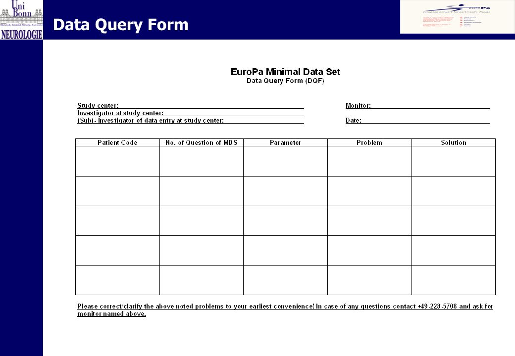Data Query Form