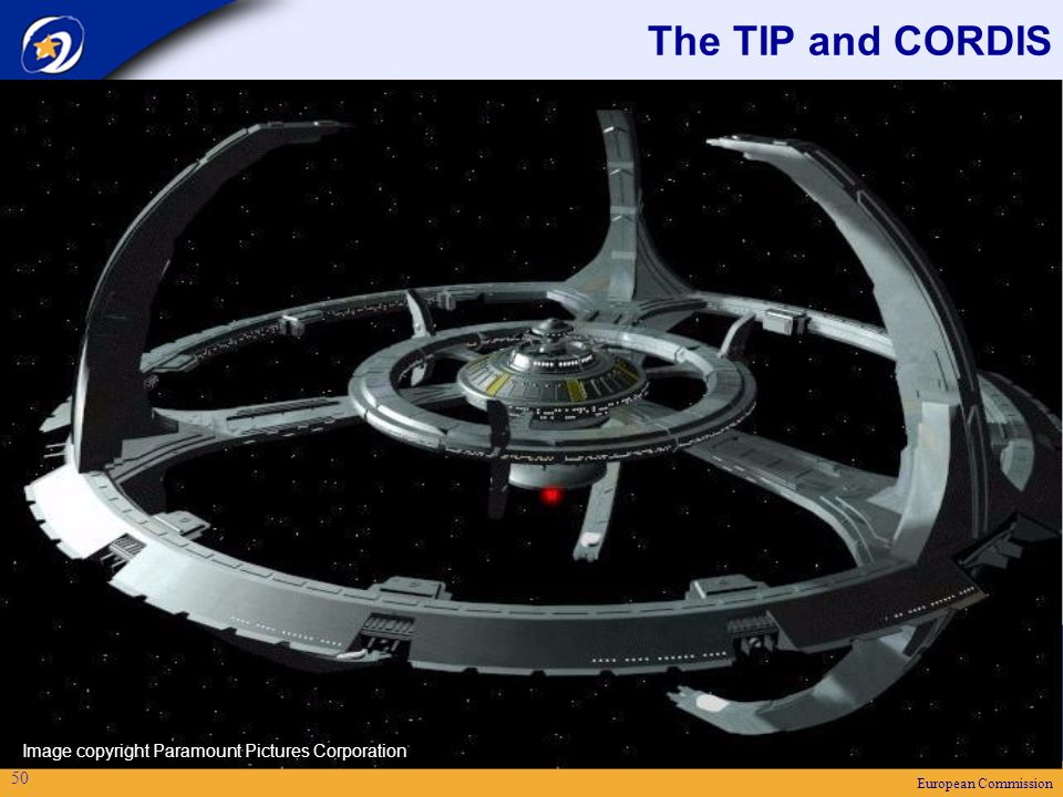 European Commission 50 The TIP and CORDIS Image copyright Paramount Pictures Corporation