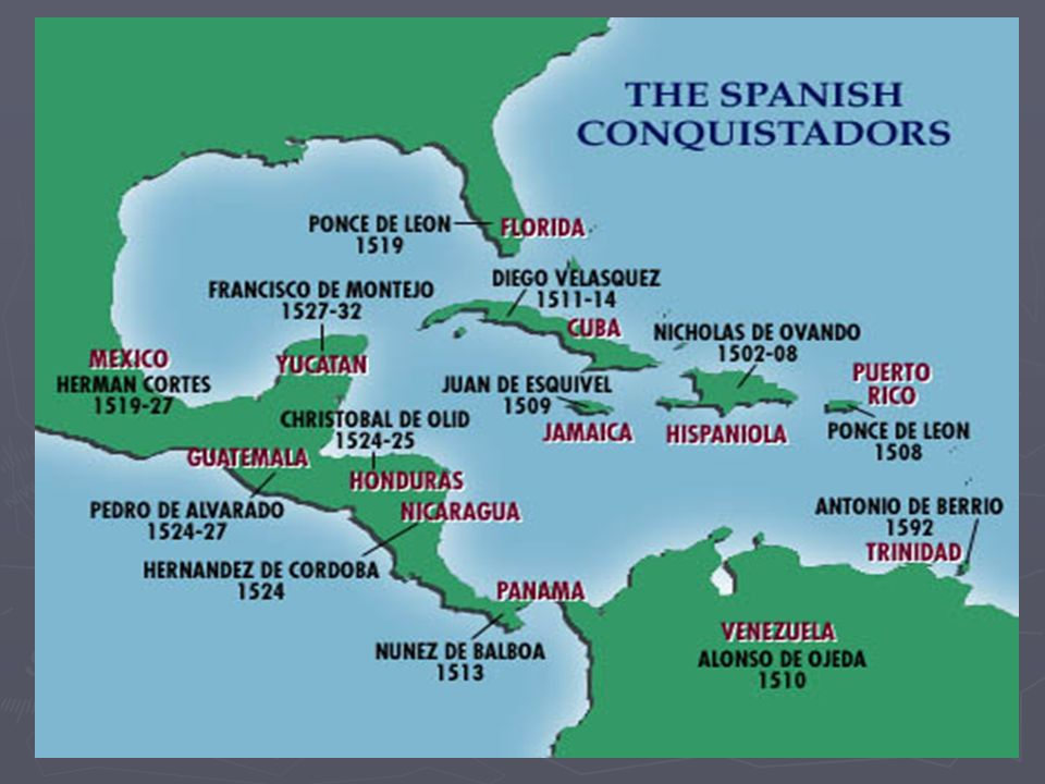 SPAIN CLAIMS A NEW EMPIRE Spanish explorers (Conquistadors) seized much of the Americas Spanish explorers (Conquistadors) seized much of the Americas