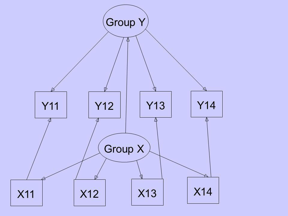 Y11Y12 Y13 Y14 Group Y X11 X12 X13 X14 Group X
