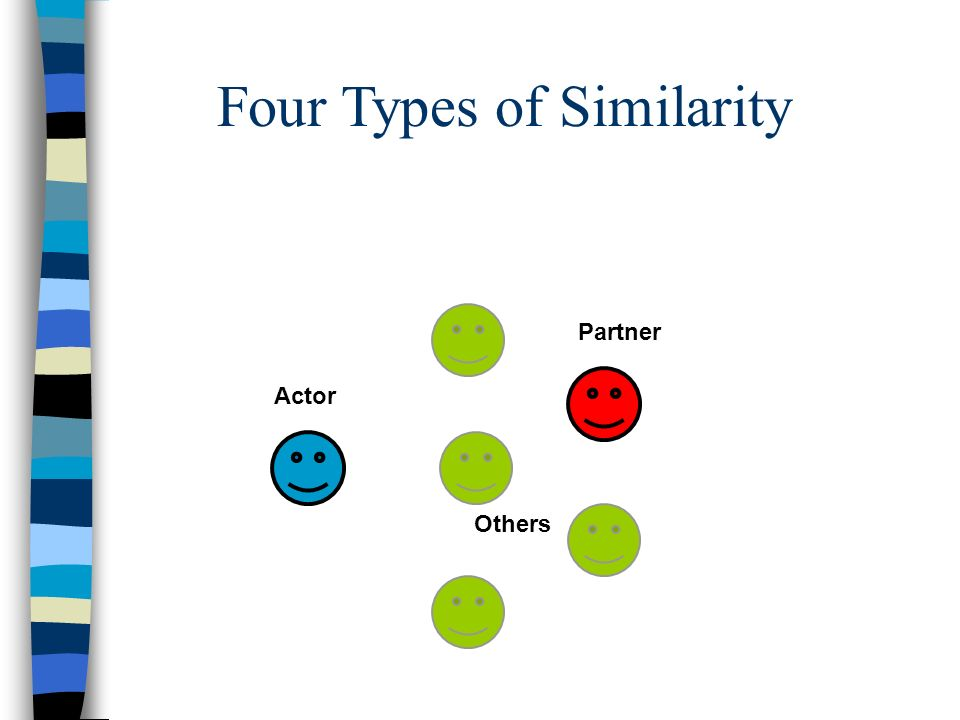 Four Types of Similarity Actor Partner Others