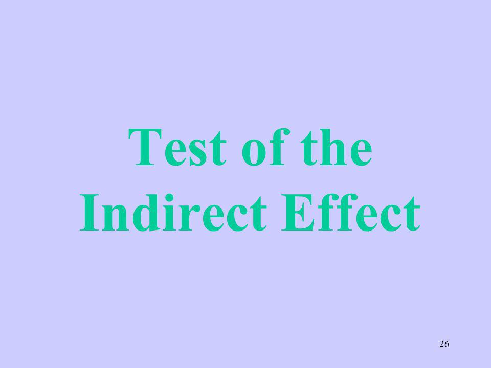 Test of the Indirect Effect 26