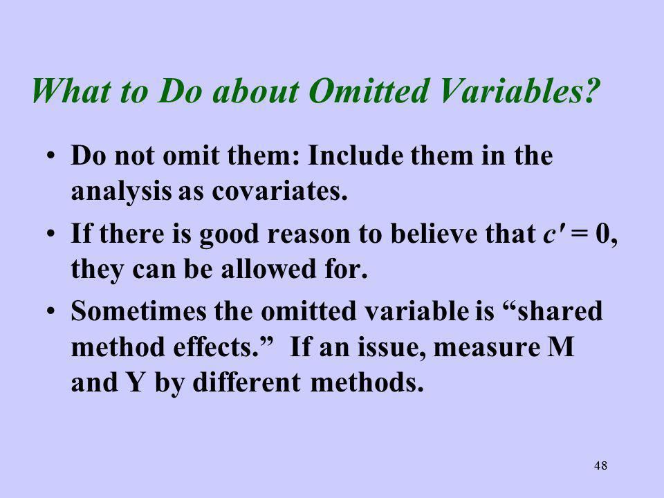 48 What to Do about Omitted Variables.