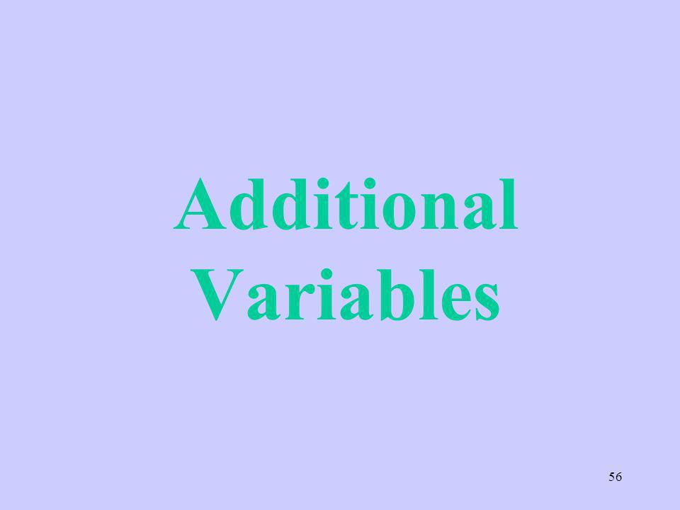 Additional Variables 56