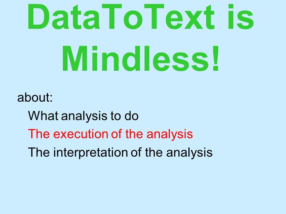 DataToText is Mindless.