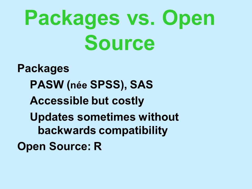 Packages vs.