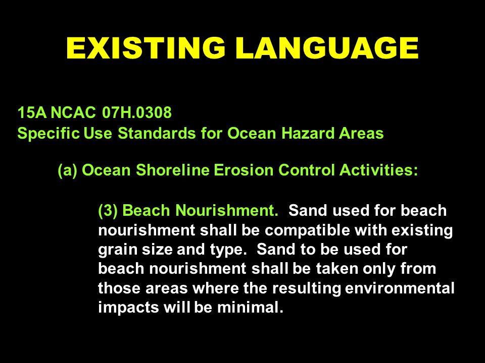 (3) Beach Nourishment.