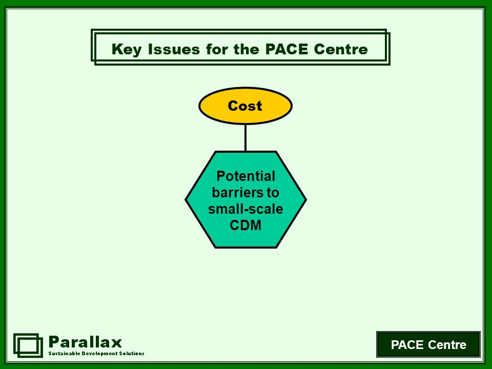 PACE Centre CDMs have not really developed anything.