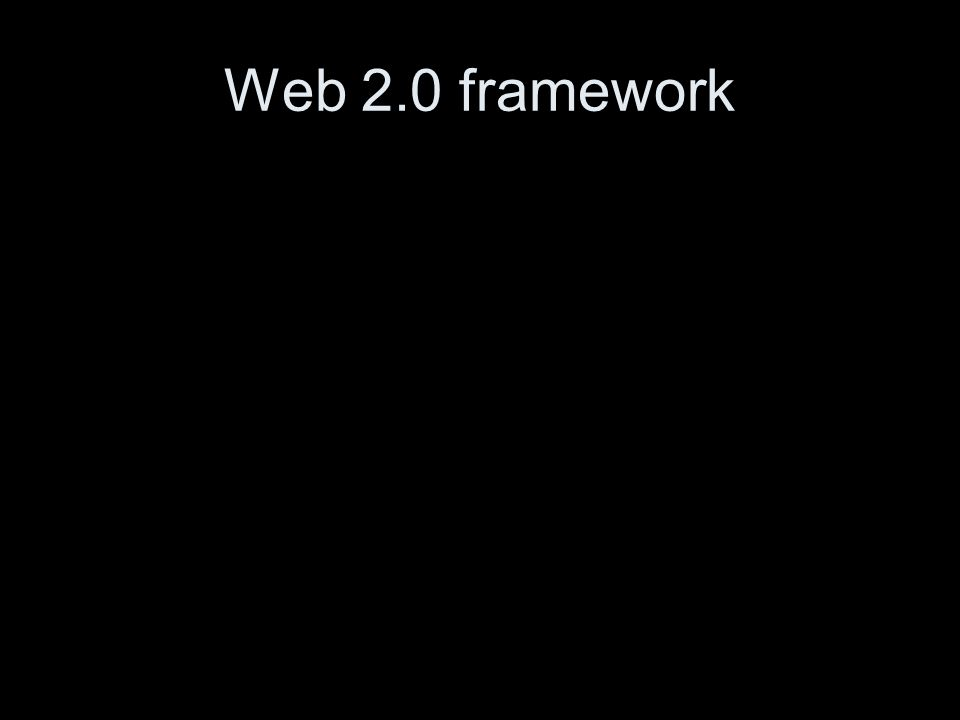 Web 2.0 framework