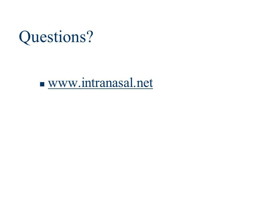 Questions? www.intranasal.net