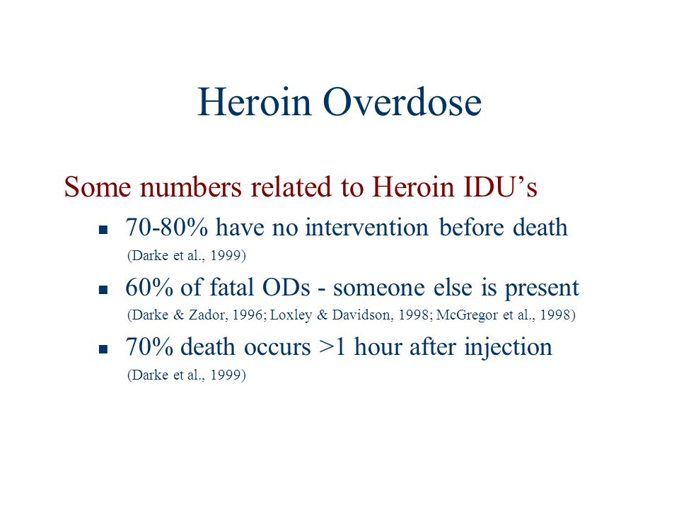 Opiate Overdose - Recognition Nasal Opiate reversal agent Naloxone