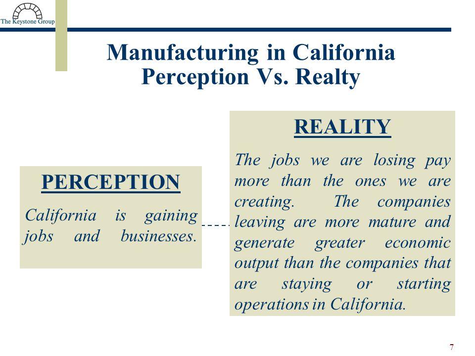 7 Manufacturing in California Perception Vs.