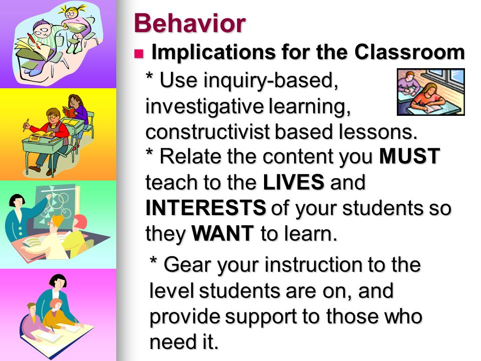 Behavior Question... If we KNOW a student is unable to perform a task, why do we continue to assign work the student can't do? Question... If we KNOW