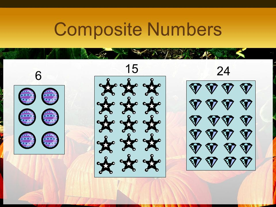 Composite Numbers 6 24 15