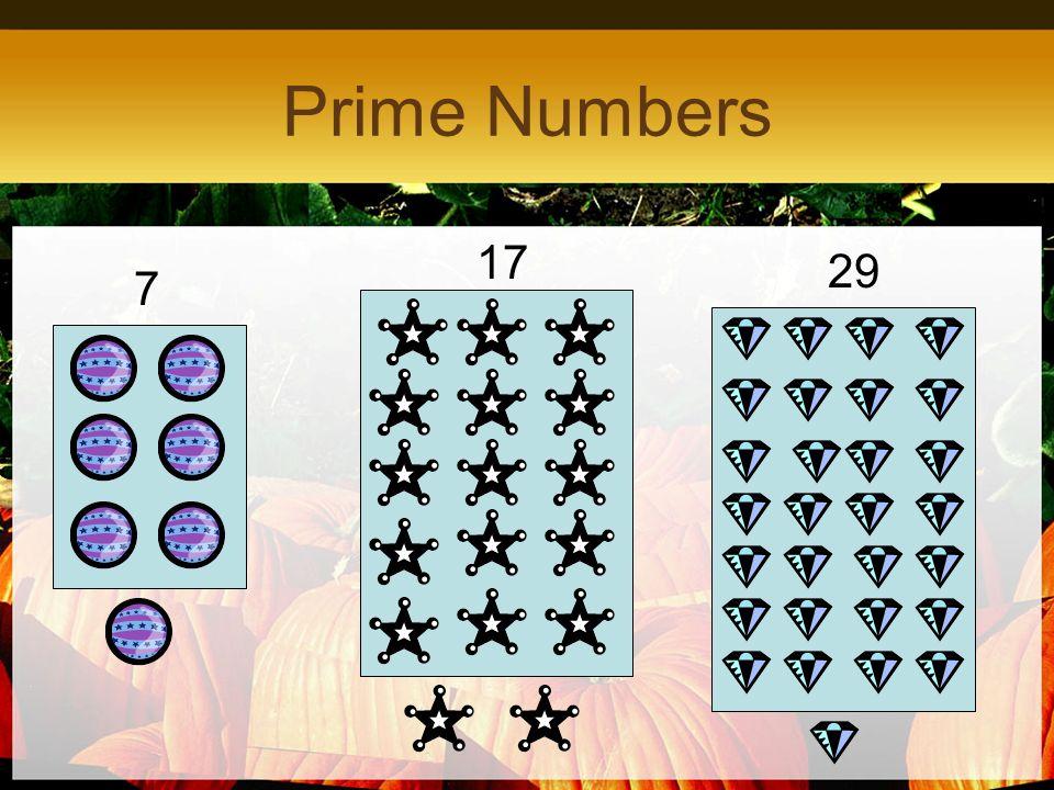 Prime Numbers 7 17 29