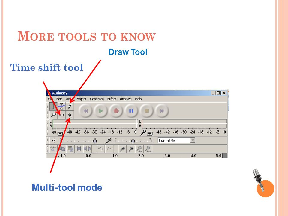 M ORE TOOLS TO KNOW Time shift tool Multi-tool mode Draw Tool
