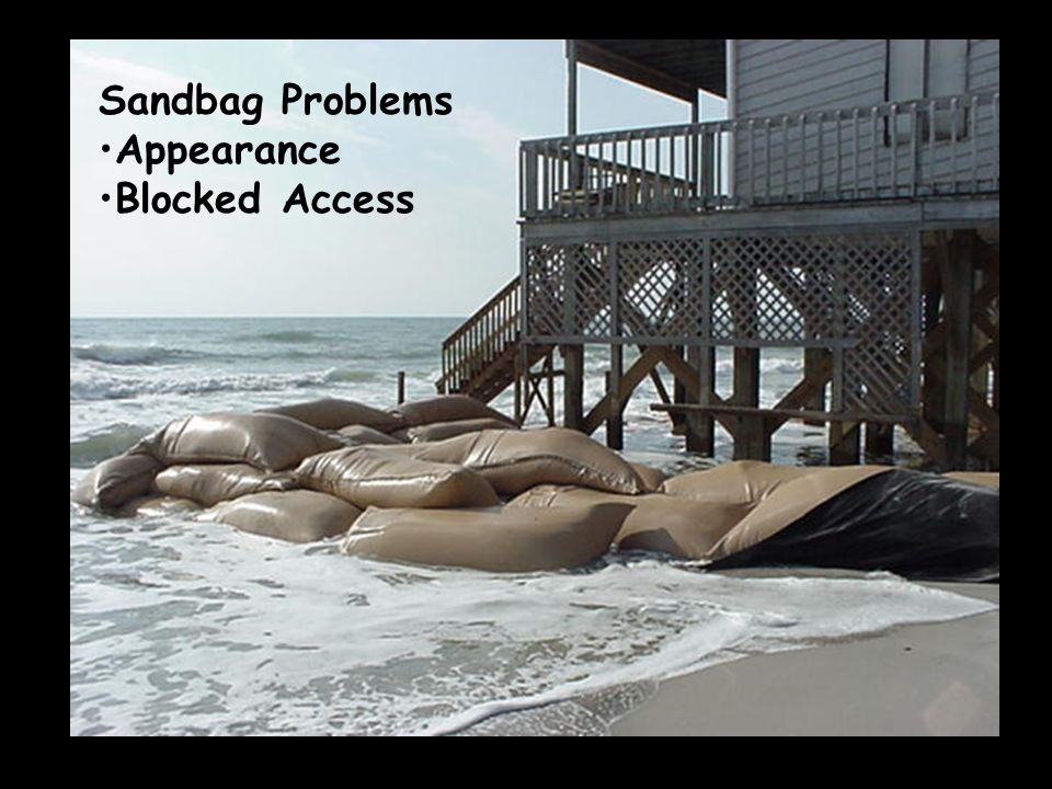 Sandbag Problems Appearance Blocked Access