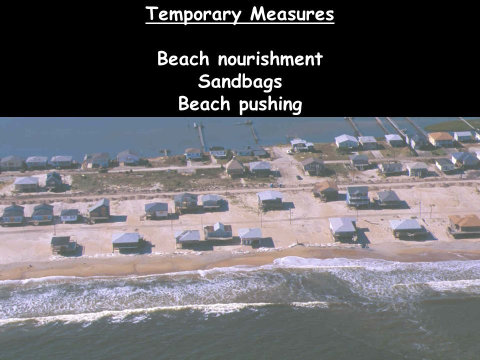 Temporary Measures Beach nourishment Sandbags Beach pushing