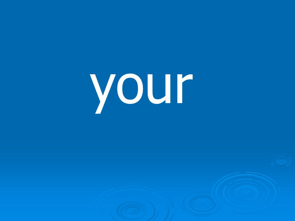 youre