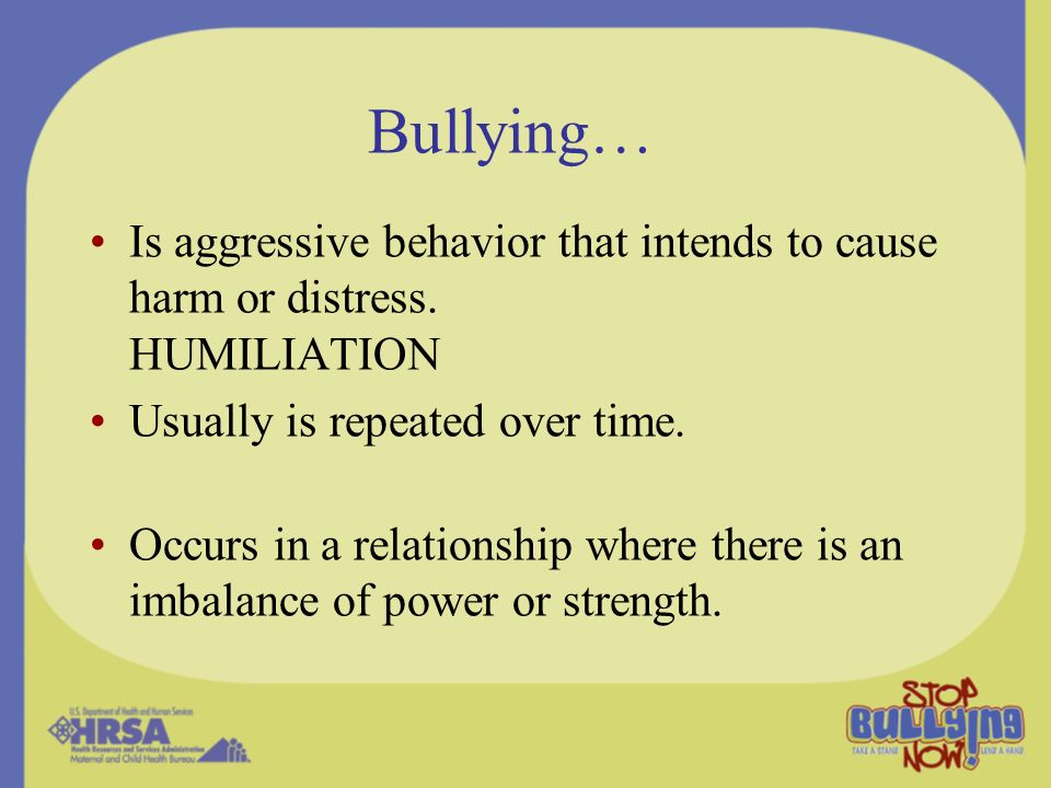 Concern About Bully/Victims Display the social-emotional problems of victimized children AND the behavioral problems of children who bully (Nansel et al., 2003) –Poor relationships with classmates –Lonely –Poorer academic achievement –Higher rates of smoking and alcohol use –More frequent fighting