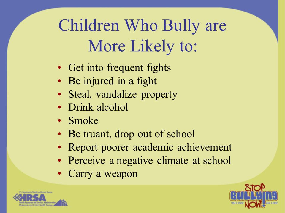 Interactive Website www.stopbullyingnow.hrsa.gov Animated Serial Comic Games, polls for tweens Advice for tweens Resource Kit for adults Links to partner groups and activities