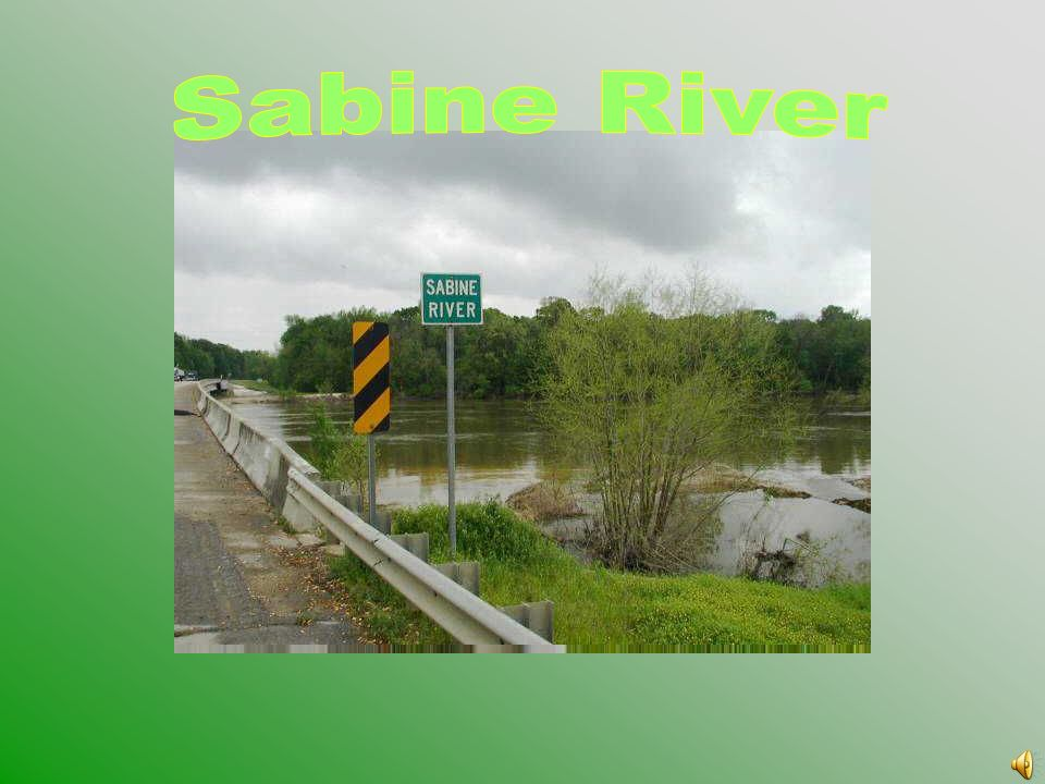 The Sabine River flows from northeast Texas turning south to form the southwestern border of Louisiana. Gulf of Mexico Atchafalaya River Red River Mis