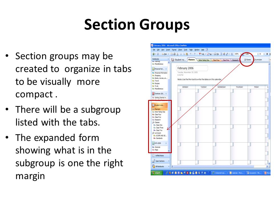 Section Groups Section groups may be created to organize in tabs to be visually more compact.