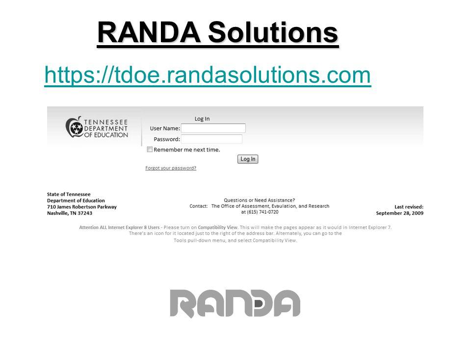 https://tdoe.randasolutions.com RANDA Solutions