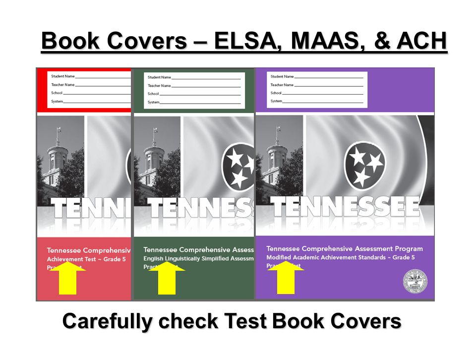 Book Covers – ELSA, MAAS, & ACH Carefully check Test Book Covers