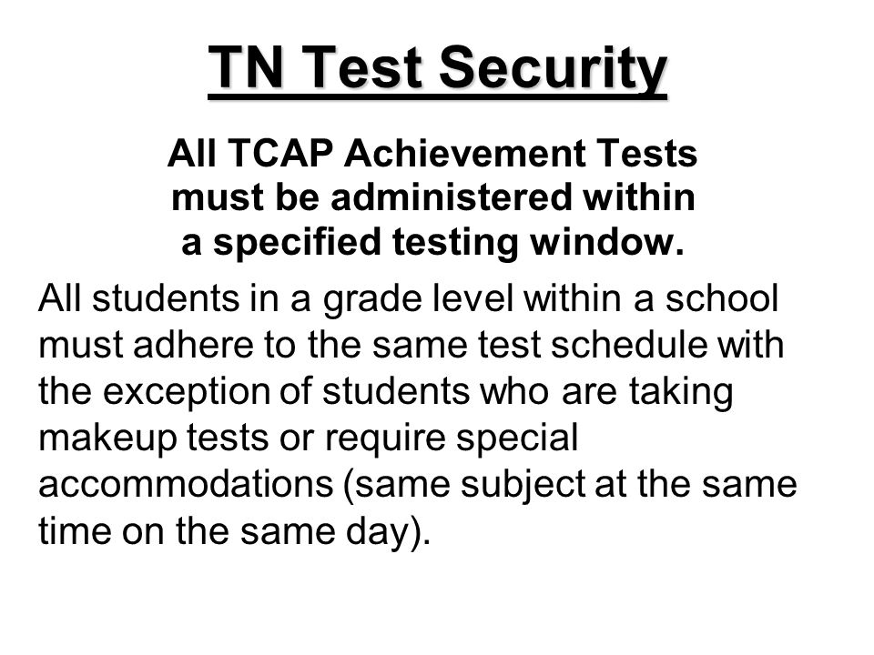 www.state.tn.us/education/assessment/tseoctoolresource.shtml Dont forget to complete Report of Irregularity.