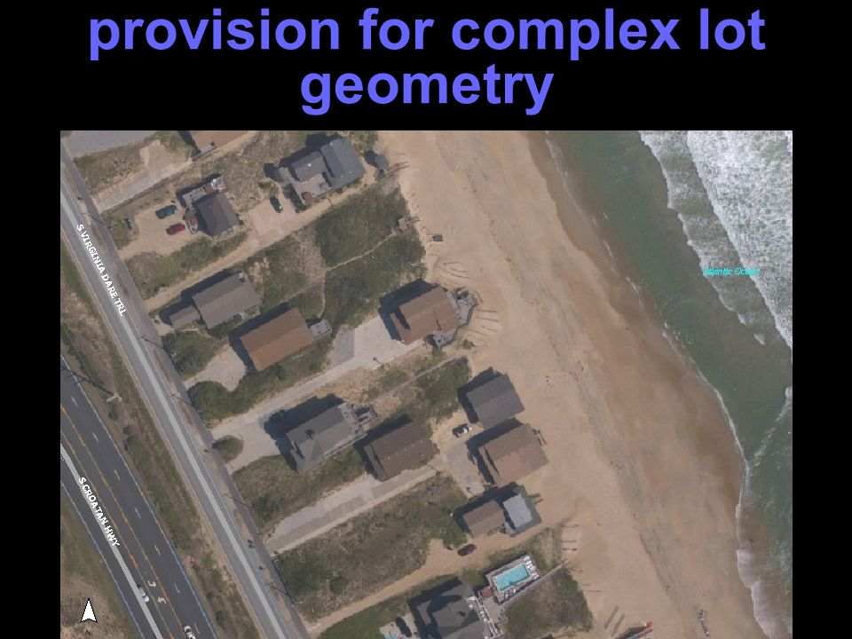 provision for complex lot geometry