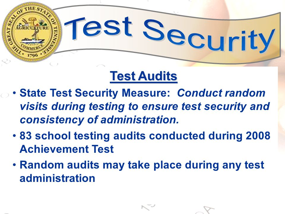 34 Testing Window All students in a grade level within a school must adhere to the same test schedule with the exception of students who require extended time and/or flexible setting accommodations and students who are taking make-ups.