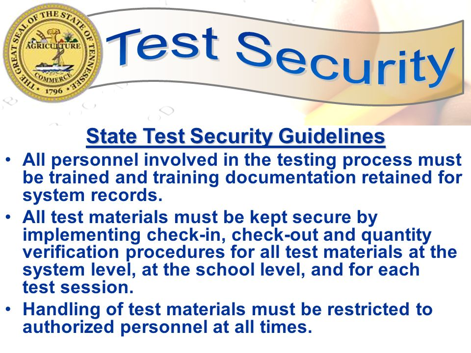 47 Multiple Testing Sessions (within school day) TCAP tests or subtests may be given in smaller segments adhering to the allotted time for that test/subtest as specified in the Test Administration Manual.