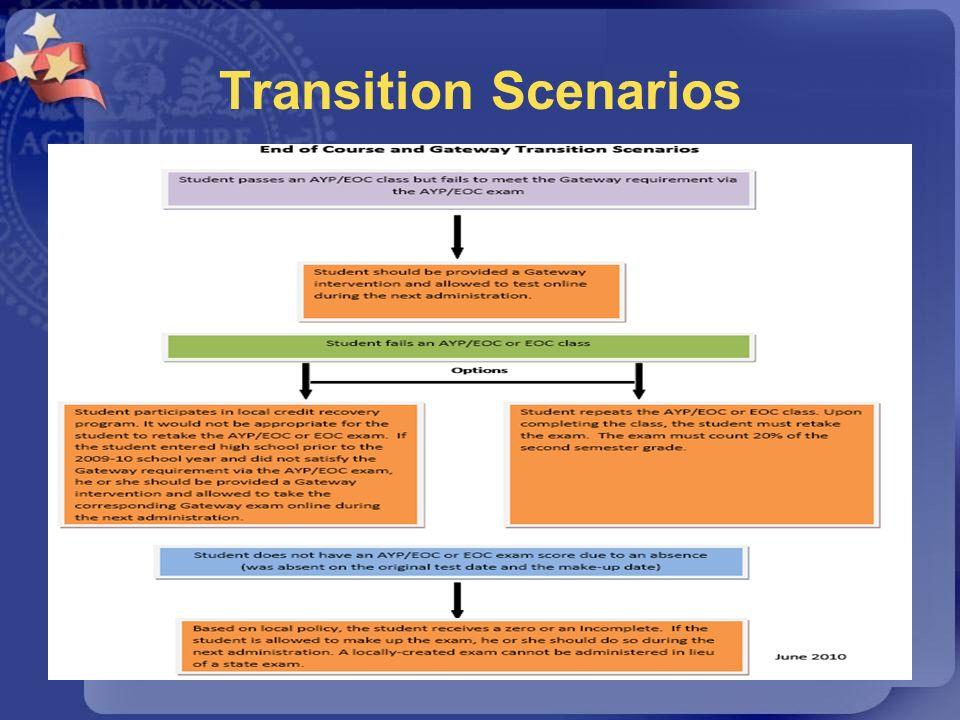Transition Scenarios 63
