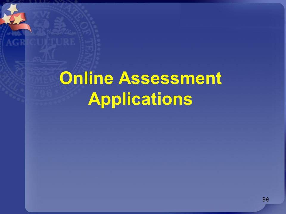 99 Online Assessment Applications